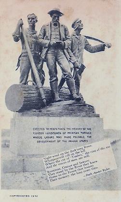 Lumberman's Monument Lumbermans Momument Postcard