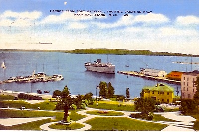 Postcard MacKinac Island