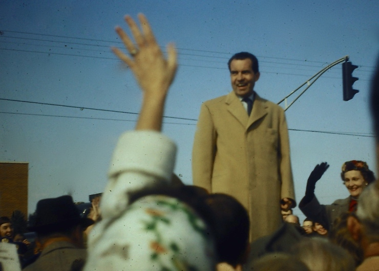 Richard Nixon Campaigning in Springfield
