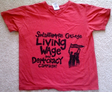 Living Wage T-Shirt From the Collection of Susan Roth