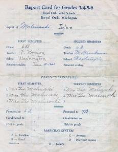 John Report Card