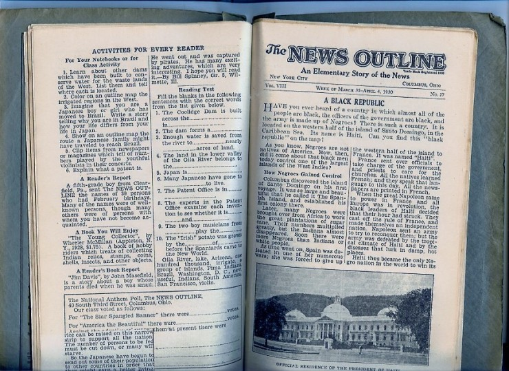 News Outline 1930