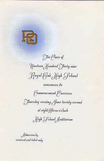 Royal Oak Grad Announcement