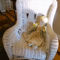 Wicker Chair and Doll