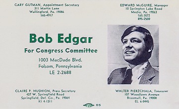 Bob Edgar Post Card