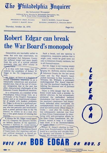 Edgar Campaign Literature