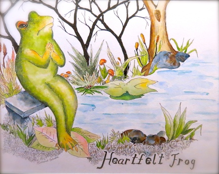 Heartfelt Frog