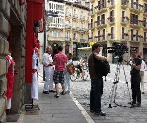 TV crew Pamploma