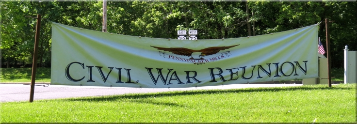 Civil War Reunion sign