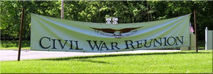 Civil War Reunion sign
