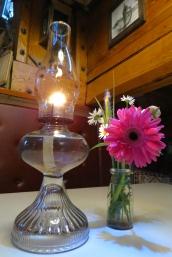 Lantern and flower