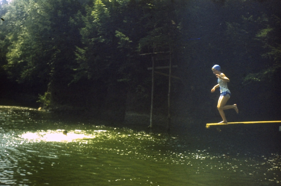 Jumping into Penn's Creek