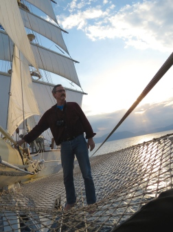Bill Leaning on Mast