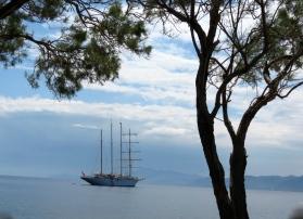Ship through Trees