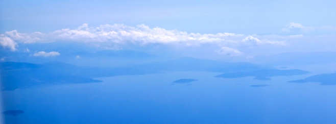 Islands of Greece from the air.